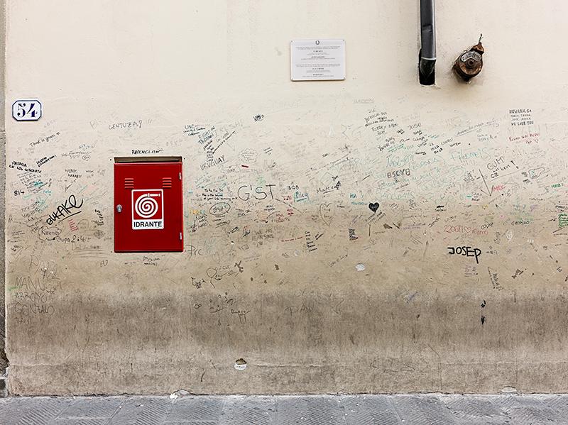 Graffiti, Accademia della Arti, Florence
