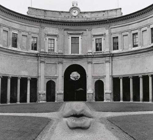 Untitled, aka Lips on Walk: Jerry N. Uelsmann