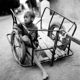 Boy on Cart, Mali