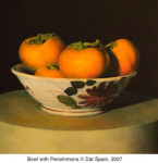 Bowl with Persimmons