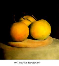 Three Asian Pears
