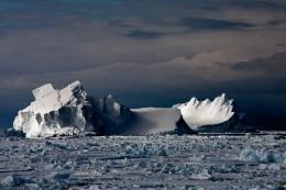 Icebergs Floating In Drift Ice II (Sold)