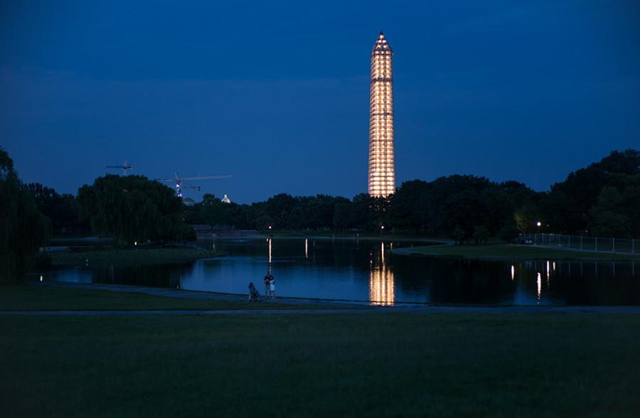 Washington Monument with its Exoskeleton