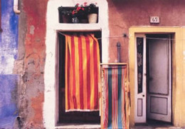 Wall With Deck Chairs, Burano, Italy