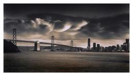 Billowing Clouds Over Bay Bridge