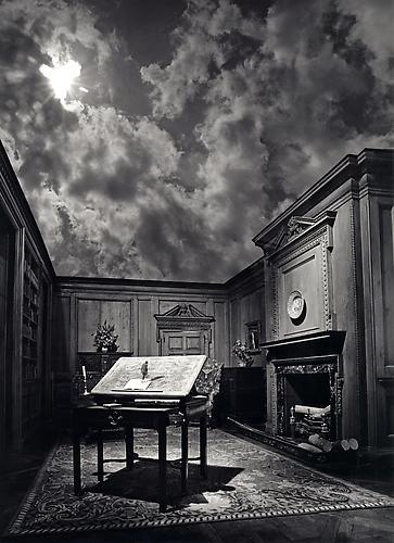Man on Desk in Cloud Room: Jerry N. Uelsmann