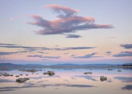 Sunset, Light and Clouds, Mono Lake