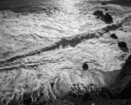 Last Light, Breaking Waves, Garapata Beach