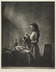 Maid Servant Pouring Milk: William Mortensen