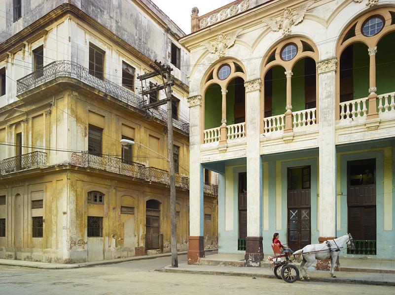 Street Corner with Horse, Havana