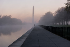 Reflecting Pool and Fog