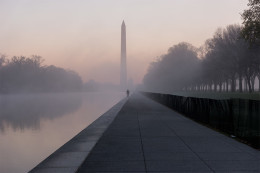 Reflecting Pool and Fog