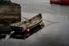 Boat in Ballynakil Harbor