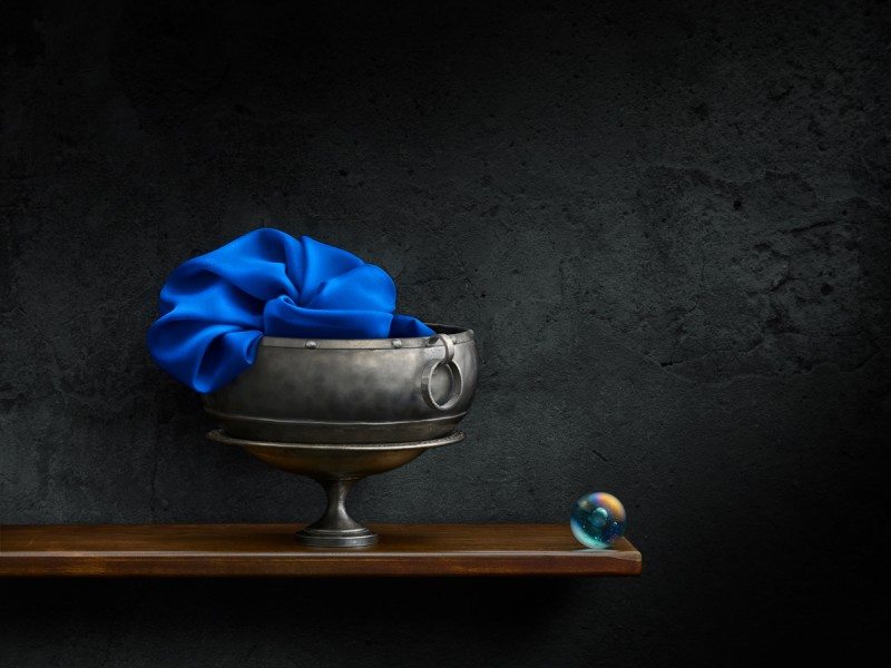 Blue Cloth with Marble