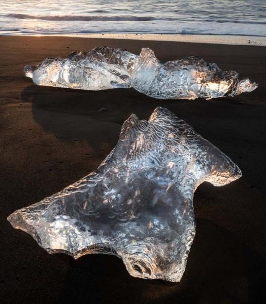 Back lit Icebergs, Iceland