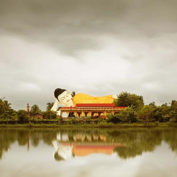 Reclining Buddha, Bago Burma