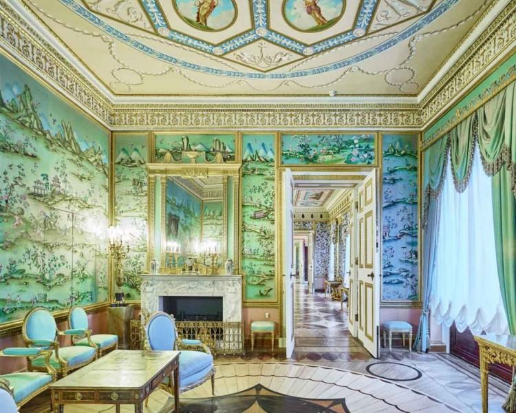 Blue Drawing Room, Catherine Palace, Pushkin, Russia