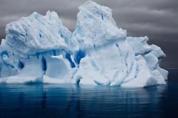 Electric Iceberg In Errera Channel, Antarctic Peninsula
