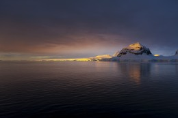 Summer Sunset in the Lemaire Channel, Antarctica