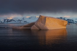 Iceberg at Sunset in the Lemaire Channel, Antarctica