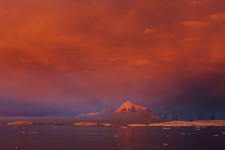The Shining Light at Sunset, Lemaire Channel, Antarctica