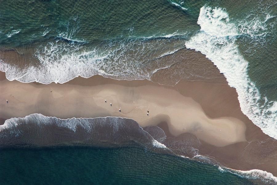 Sandbar Waves and Seagulls, Martha's Vineyard #0085-0018