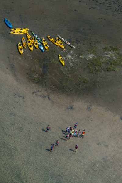 Kayaker Gathering at the Sandbar, Jersey Shore #482-7919