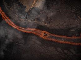 Lava River 1, Eruption