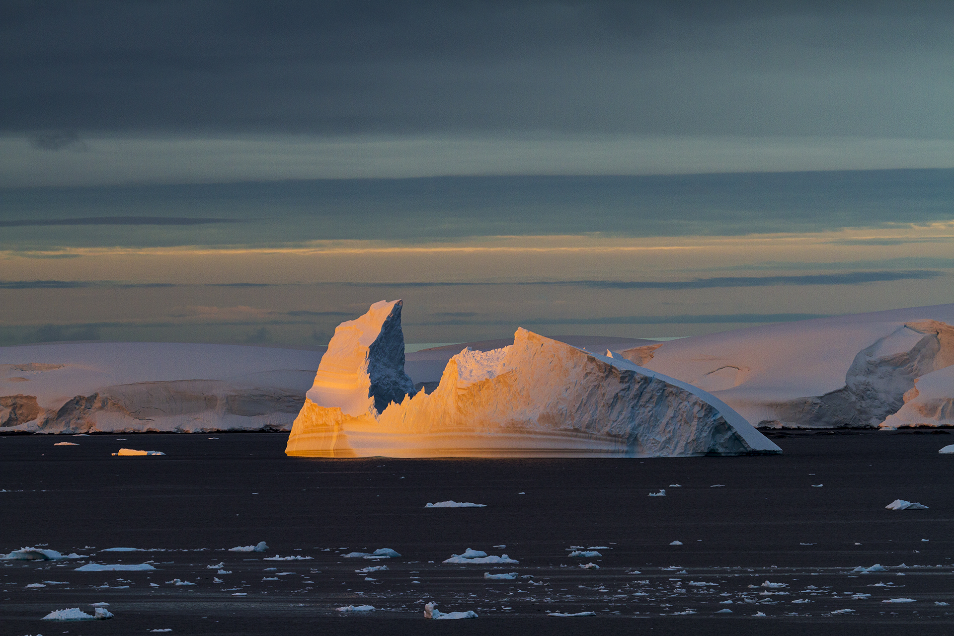 10e5265d3b773 Midnight Sunset, Lemaire Channel, Antarctica by Camille Seaman ...