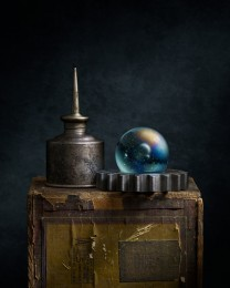 Oil Can With Marble