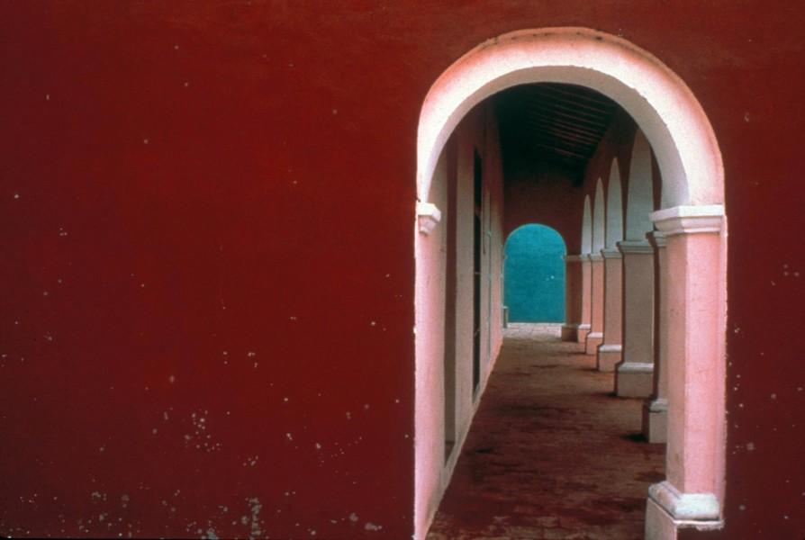 Painted Arcade, Tlacotalpan, Veracruz, Mexico