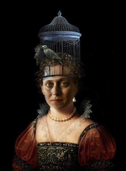 Portrait with Birdcage