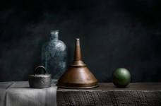 Still Life with Copper Funnel