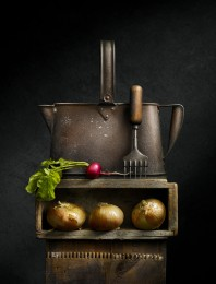 Watering Can with Radish