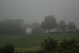 White House in Fog
