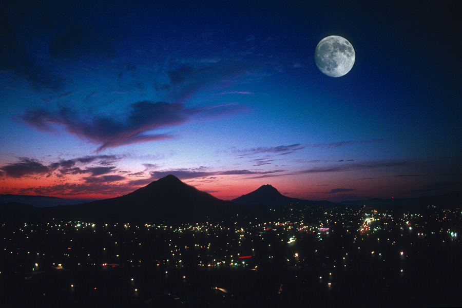San Luis Obispo Moonrise