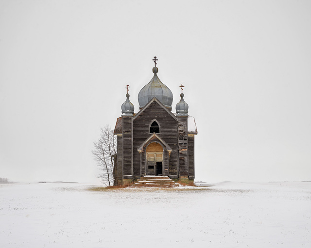 Weathered Church, Saskatchewan, CA