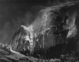 Half Dome Blowing Snow, Yosemite National Park
